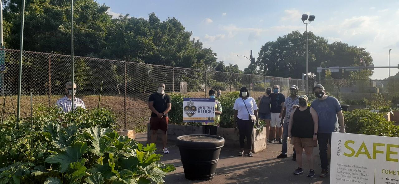 Volunteers at the East Allegheny Community Garden.